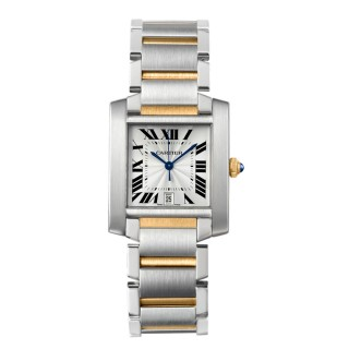 Cartier Tank Francaise Large  Steel and Yellow Gold Watch
